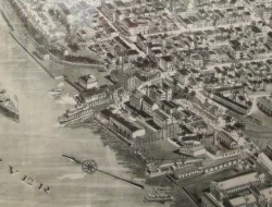 "Detail view of segment of ""Aero-view of Hudson, NY"""