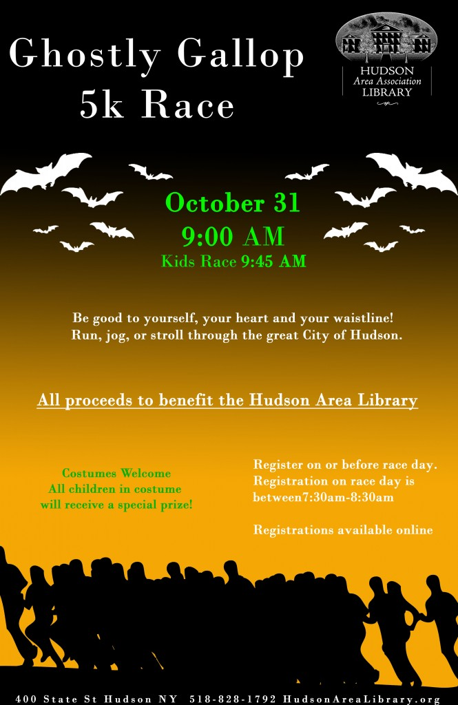 Hudson Area Library Ghostly Gallop 5K Race Hudson NY
