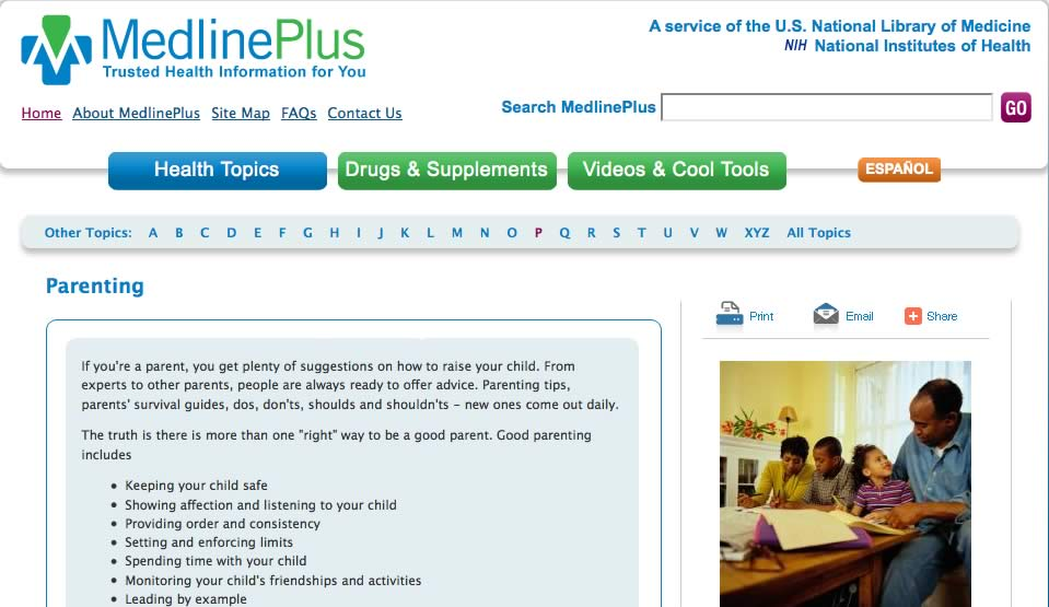 Medlineplus- health information from NIH