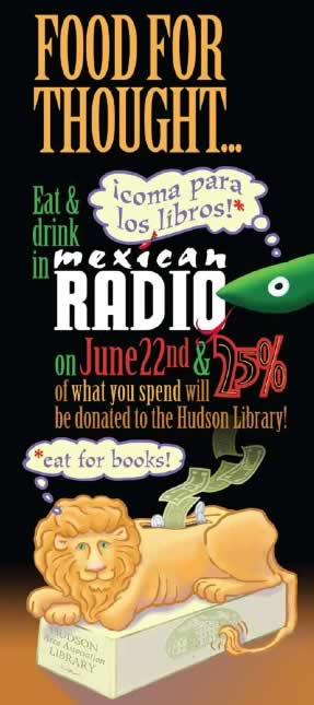 Eat for Books Mexican Radio