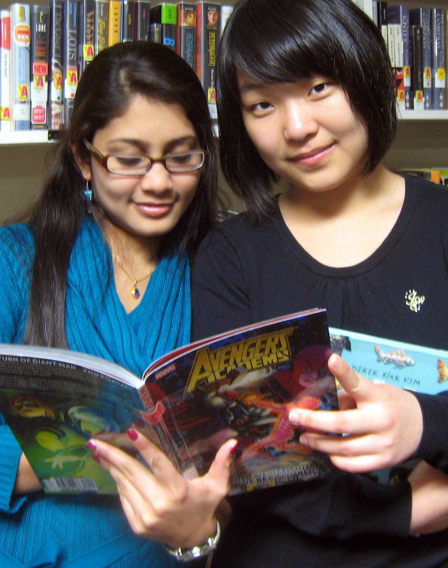 Ishrat and Jing check out the new graphic novels