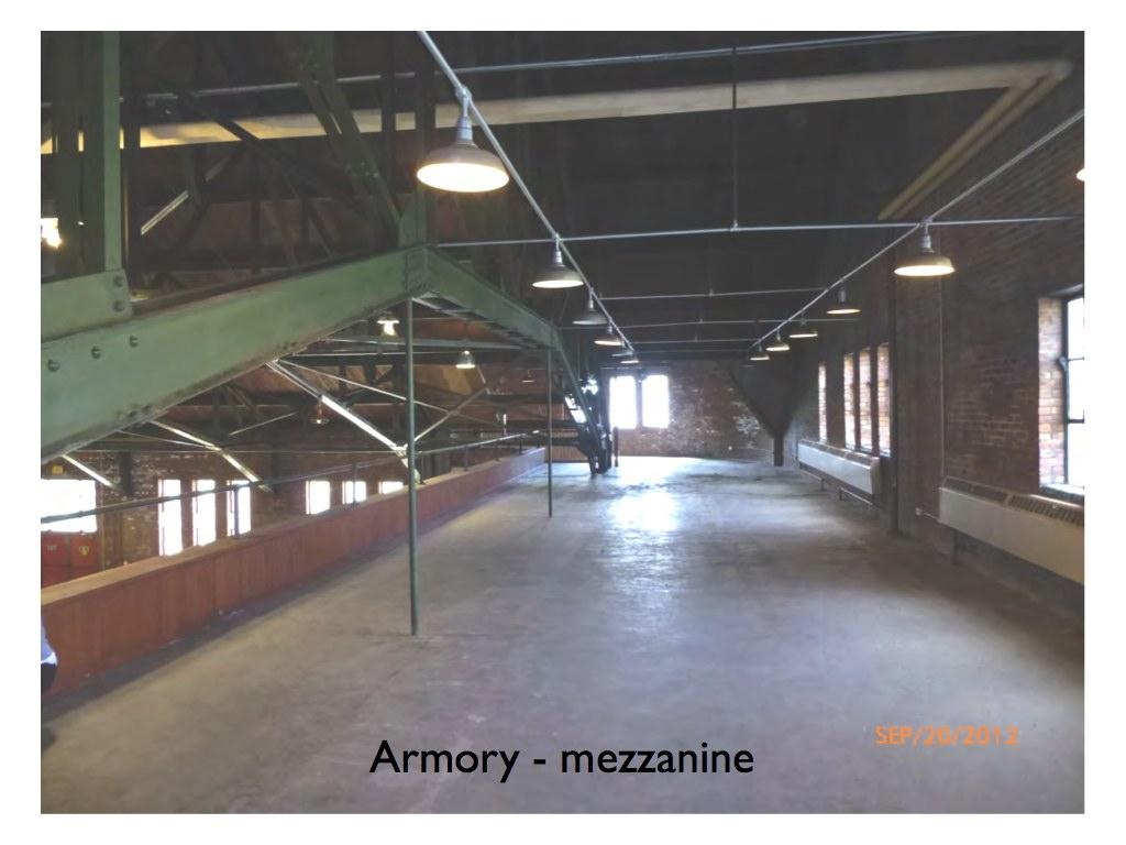 Armory mezzanine Hudson NY