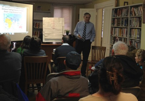 Dr. Thomas Mounkhall delivered the inaugural presentation in the Local History Speakers Series.