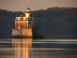 Morning Gold Light Lighthouse by Paul Abitabile