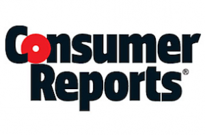 The Consumer Reports logo, with the name in standard font, and the O in Consumer colored red.