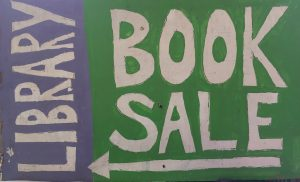 Library Book Sale sign
