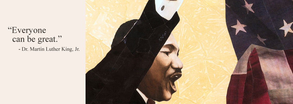 Image from Martin's Big Words: The Life of Dr. Martin Luther King, Jr.  by Doreen Rappaport with illustrations by Bryan Collier